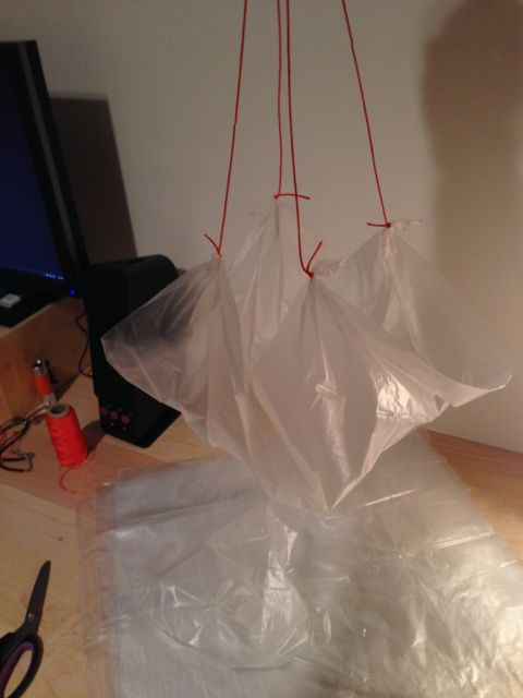 Parachute in the making