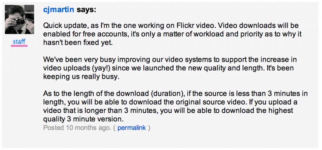 Flickr: The Help Forum: How do I download my own videos? : new layout 2014-04-10 23-58-54 2014-04-10 23-58-56